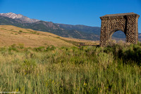 Roosevelt Arch at the entrance of Gardiner,MT