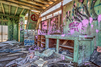 Abandoned building at Bombay Beach